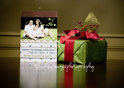 christmas mini session press printed card